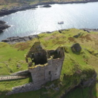 Etive Boat Trips anchored near Gylen Castle, Isle of Kerrera