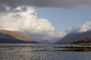 Loch Etive with Storm Clouds
