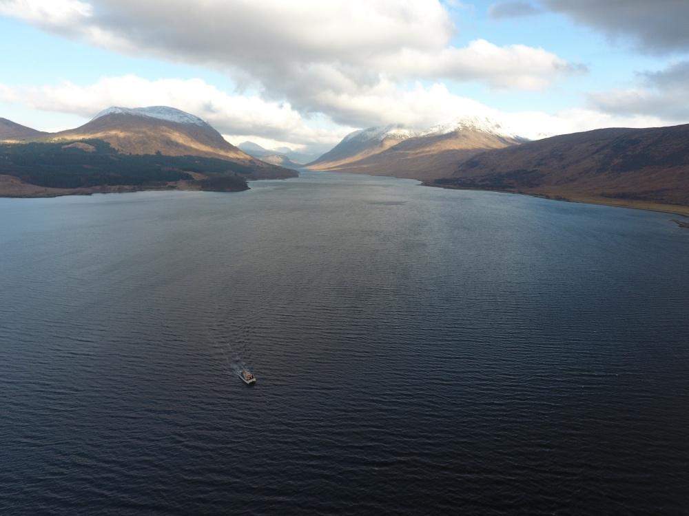 Etive Explorer cruising on Loch Etive