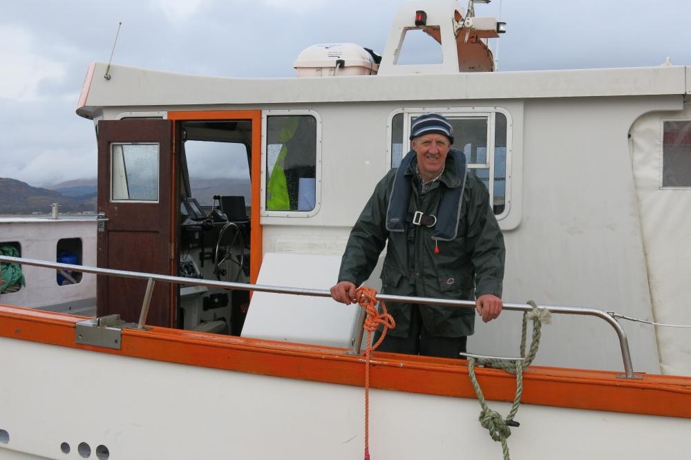 Skipper Chris Jackson of the Etive Explorer based at Dunstaffnage Marina