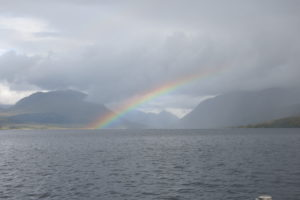 Rainbow up Loch Etive