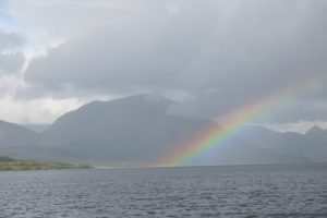 Rainbow up Loch Etive by Etive Boat trips