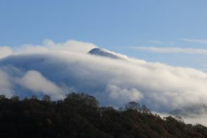 Ben Cruachan through the clouds.